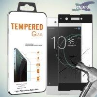Закаленное защитное стекло для Sony Xperia XA1 на весь экран - Черный