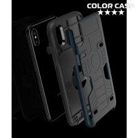 Защитный чехол для iPhone Xs / X с отделением для карты - Черный