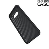 Защитный чехол для Samsung Galaxy S8 Plus с подставкой и отделением для карты - Черный