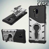 Защитный чехол с поворотной подставкой для LG G7 ThinQ - Серый