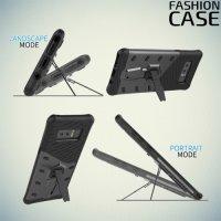 Защитный чехол с поворотной подставкой для Samsung Galaxy Note 8 - Серый
