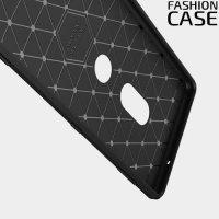 Жесткий силиконовый чехол для Sony Xperia XZ2 с карбоновыми вставками - Коралловый