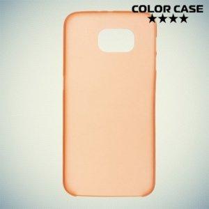 Тонкий чехол для Samsung Galaxy S6 - оранжевый