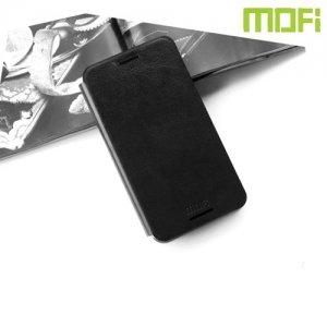 Тонкий чехол книжка для HTC One М9 Plus - MOFI Черный