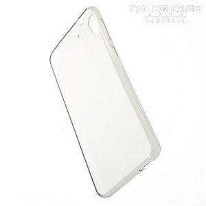 Тонкий силиконовый чехол для HTC Desire 728 и 728G Dual SIM  - Серый