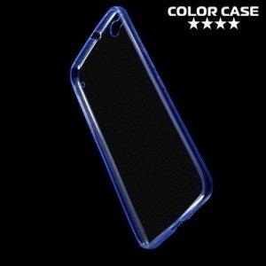 Тонкий силиконовый чехол для HTC One X9 - Синий