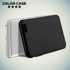 Тонкий силиконовый чехол для iPhone 8/7 - Черный
