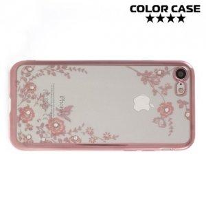 Тонкий силиконовый чехол для iPhone 8/7 - Цветы