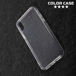 Тонкий силиконовый чехол для iPhone Xs / X - Прозрачный