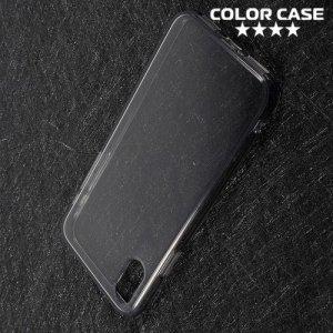 Тонкий силиконовый чехол для iPhone Xs / X - Серый