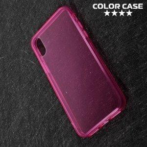 Тонкий силиконовый чехол для iPhone 8 - Розовый