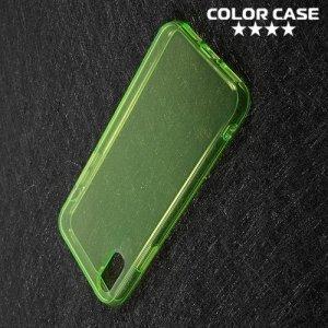 Тонкий силиконовый чехол для iPhone 8 - Зеленый