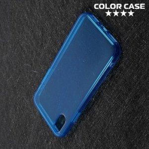 Тонкий силиконовый чехол для iPhone Xs / X - Синий