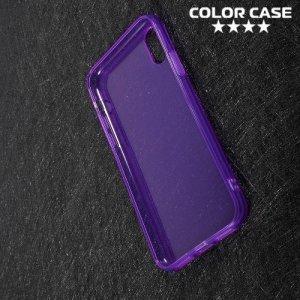 Тонкий силиконовый чехол для iPhone Xs / X - Фиолетовый