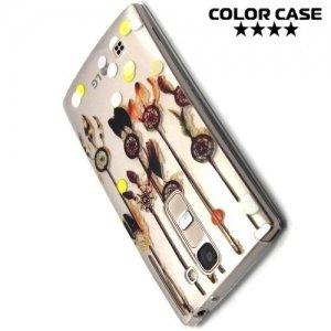 Тонкий силиконовый чехол для LG G4c H522y - с рисунком Ловец снов