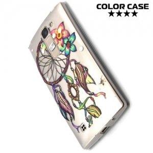 Тонкий силиконовый чехол для LG G4c H522y - с рисунком Цветы