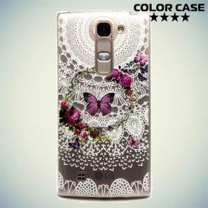 Тонкий силиконовый чехол для LG G4c H522y - с рисунком Бабочка