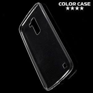 Тонкий силиконовый чехол для LG K10 K410 K430DS - Прозрачный