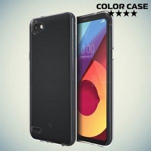 Тонкий силиконовый чехол для LG Q6a M700 - Прозрачный