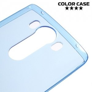 Тонкий силиконовый чехол для LG V10 - Синий