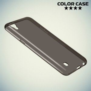 Силиконовый чехол для LG X Power K220DS - Полупрозрачный серый