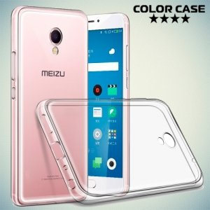 Тонкий силиконовый чехол для Meizu M3E - Прозрачный