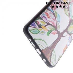 Тонкий силиконовый чехол для Samsung Galaxy A5 2016 SM-A510F - с рисунком Дерево счастья