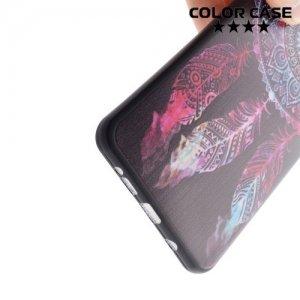 Тонкий силиконовый чехол для Samsung Galaxy A5 2016 SM-A510F - с рисунком темный Ловец снов