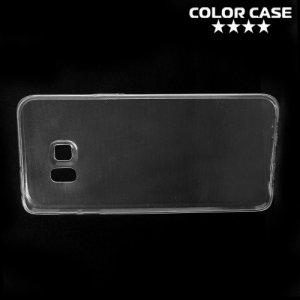 Тонкий силиконовый чехол для Samsung Galaxy S6 Edge Plus - Прозрачный