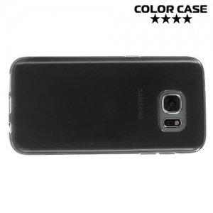 Силиконовый чехол для Samsung Galaxy S7 - Черный полупрозрачный
