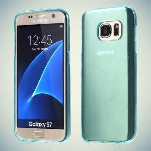 Силиконовый чехол для Samsung Galaxy S7 - Голубой