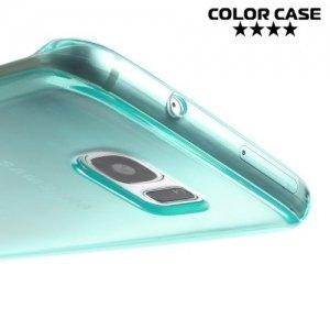 Силиконовый чехол для Samsung Galaxy S7 Edge - Голубой