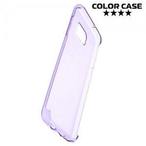 Тонкий силиконовый чехол для Samsung Galaxy S7 Edge - Фиолетовый