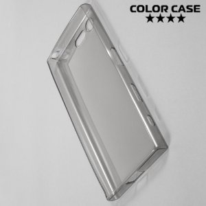Тонкий силиконовый чехол для Sony Xperia X Compact - Серый