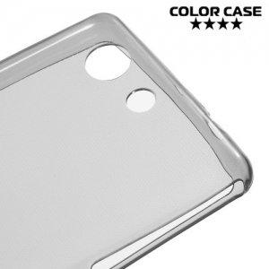 Тонкий силиконовый чехол для Sony Xperia Z3 Compact D5803 - Серый