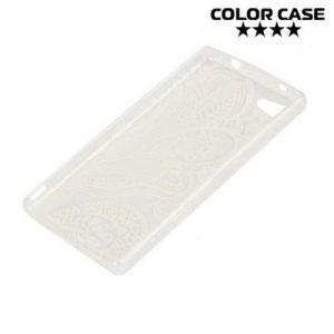 Тонкий силиконовый чехол для Sony Xperia Z5 Compact E5823 - с рисунком Пейсли