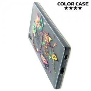 Тонкий силиконовый чехол для Sony Xperia Z5 - с рисунком Ловец снов