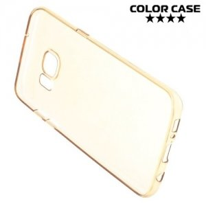 Тонкий силиконовый чехол для Samsung Galaxy S7 Edge - Золотой