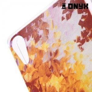 Тонкий силиконовый чехол для Sony Xperia Z3+ с орнаментом Осень