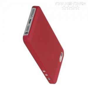 Ультратонкий кейс чехол для iPhone SE-Красный