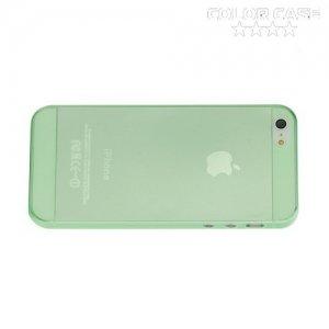 Ультратонкий кейс чехол для iPhone SE-Зеленый