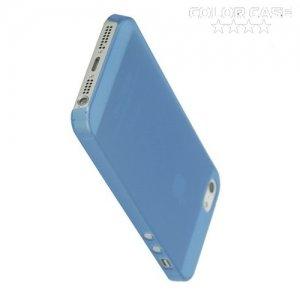 Ультратонкий кейс чехол для iPhone SE-Синий