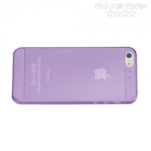 Ультратонкий кейс чехол для iPhone SE-Фиолетовый