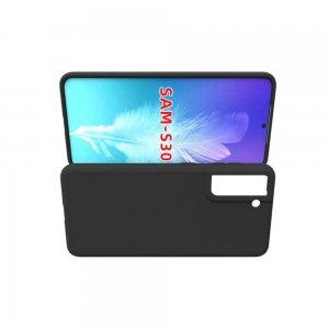 Ультратонкий черный силиконовый чехол для Samsung Galaxy S21