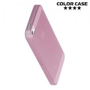 Ультратонкий 0.3 мм кейс чехол для iPhone SE - Розовый