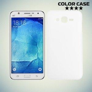 Ультратонкий кейс чехол для Samsung Galaxy J7 Белый