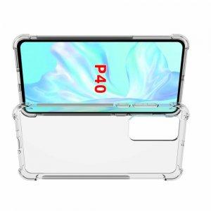 Ультратонкий прозрачный силиконовый чехол для Huawei P40