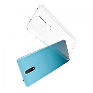 Ультратонкий прозрачный силиконовый чехол для Nokia 2.4
