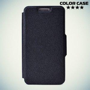 Чехол книжка для телефона 3.5-4 дюйма универсальный - чёрный