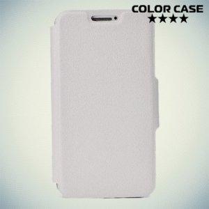 Чехол книжка для телефона 3.5-4 дюйма универсальный - белый